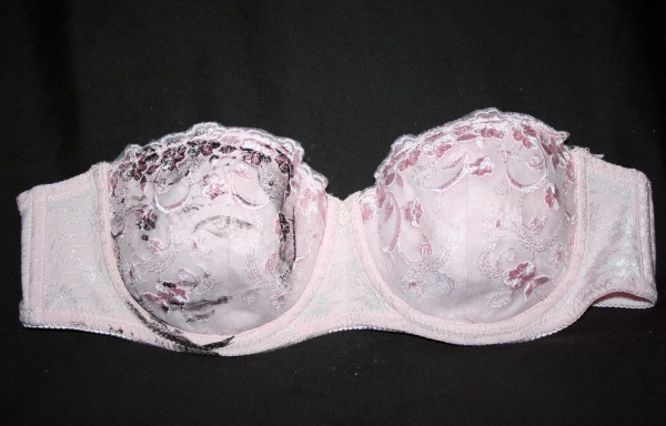 portrait printed on a bra