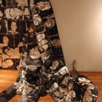 portraits printed on aluminum foil
