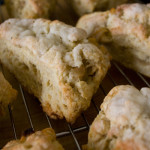 detail shot of pear ginger scones