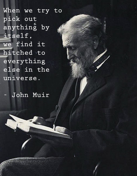 photograph and quote from John Muir