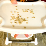 cheerios on a highchair