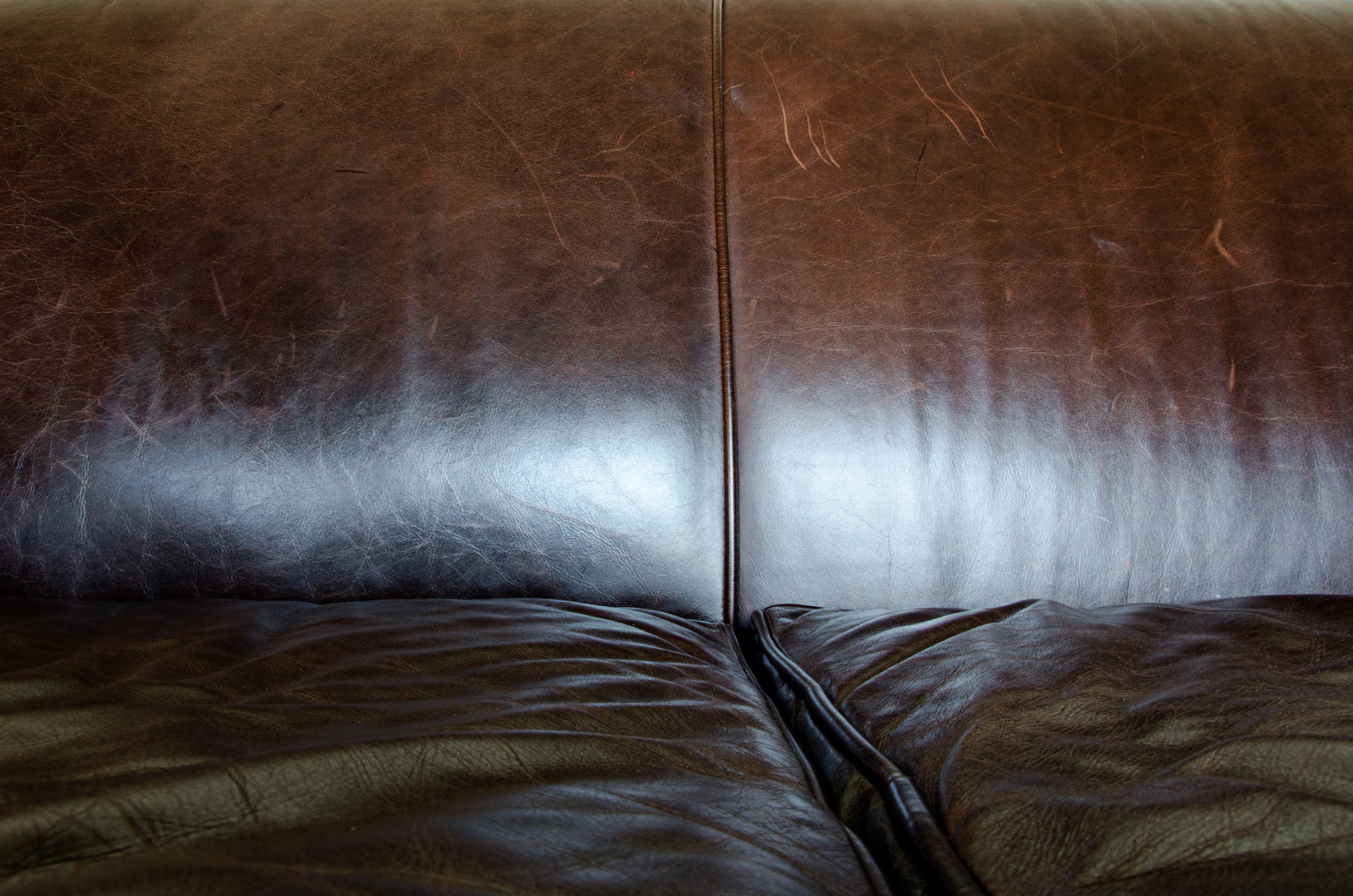 leather light and line of a couch