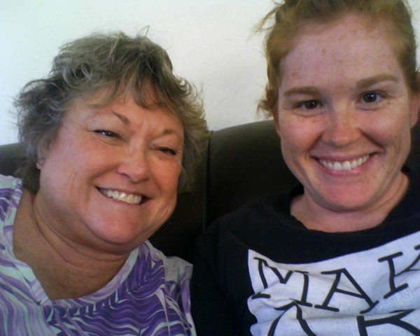 My mom and me on Art Break Day 2013!