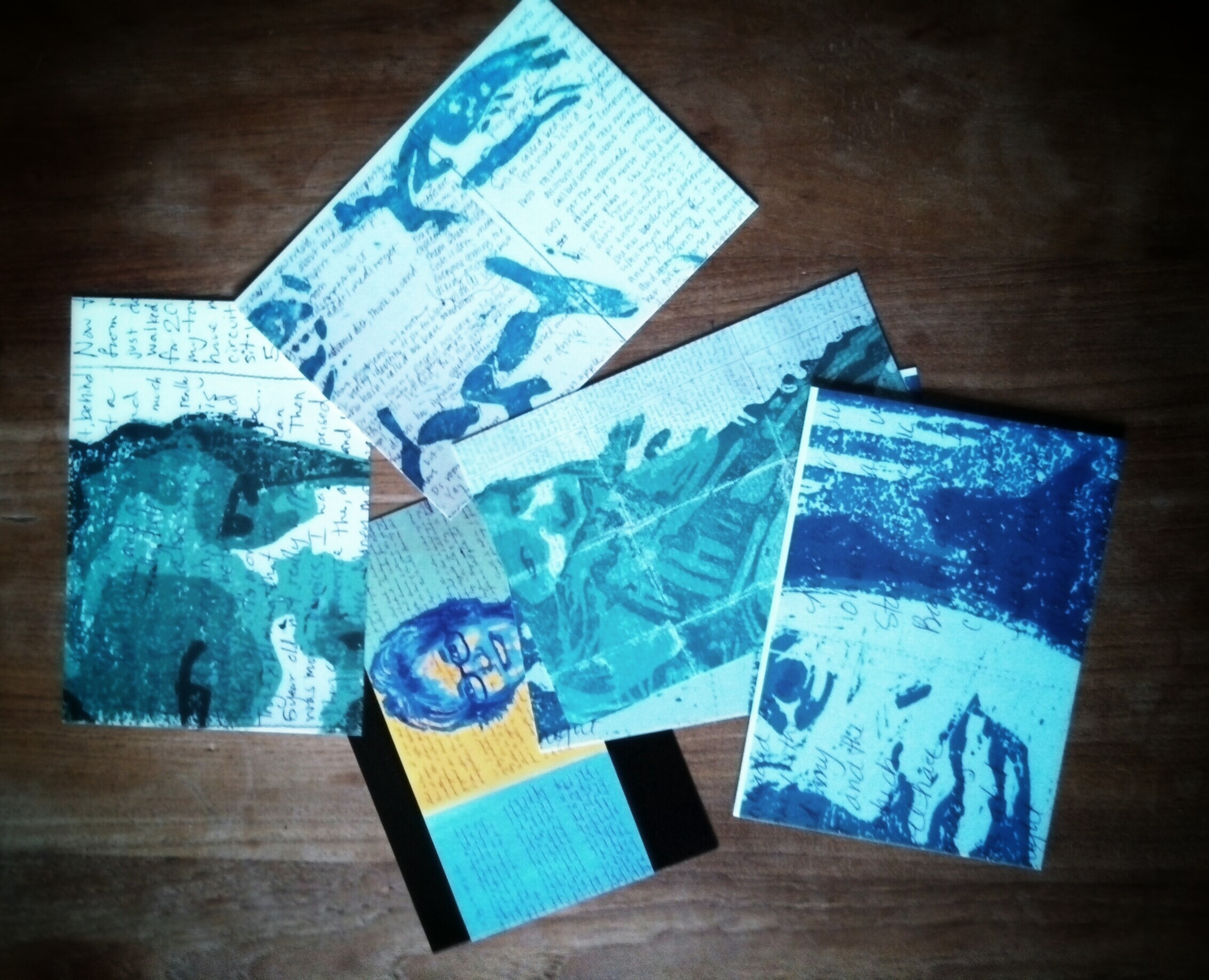 Postcard reproductions of my latest art project