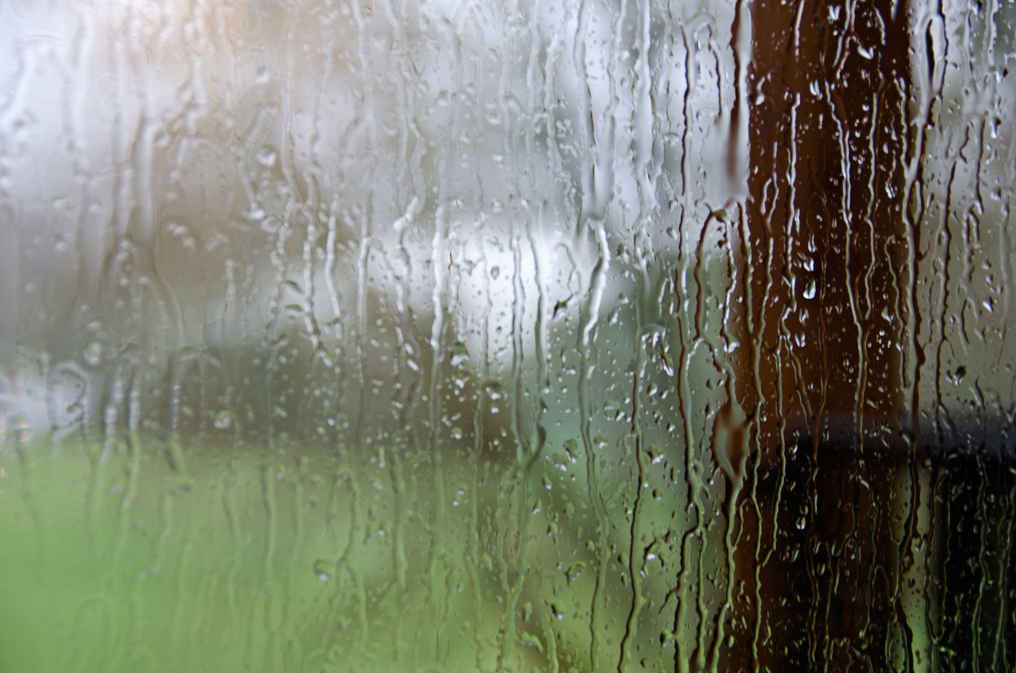 Rain drizzling against a window. Records of Life. A collection of photographs by Lauren Odell Usher Sharpton