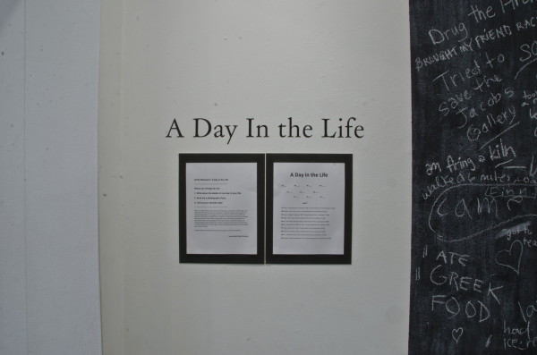 A Day in the Life Art Installation by Lauren Odell Usher Sharpton